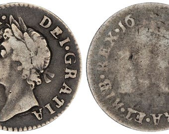 1687/6 Fourpence James II silver coin of Great Britain