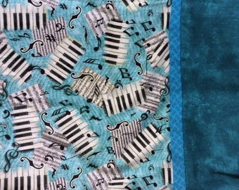 Piano Music Teal Pillowcases FREE SHIPPING