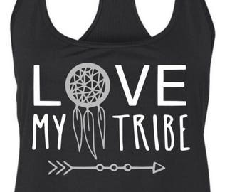 Love My Tribe Racerback Tank