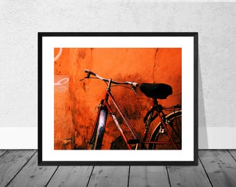 Morocco Art Print, Morocco Photography, Bicycle Photography, Red Bicycle, Marrakech, Colour Photography, Home Décor, Print, Bicycle Art