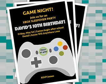 Game Night Birthday Party