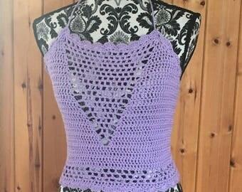 Cotton crochet ladies crop top
