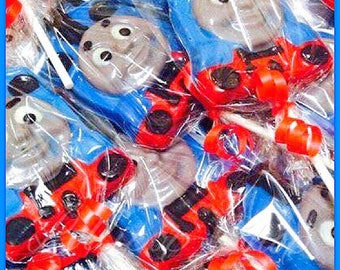 12 Thomas the Train chocolate lollipops (Birthday, thomas party favors, thomas the train)