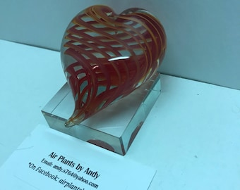 Glass art, glass heart, brand new