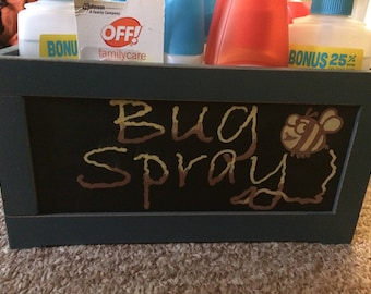 Vintage Chalk Bug Spray Crate!