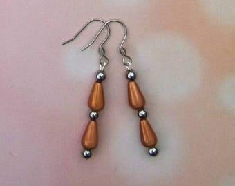 Haematite and miracle bead earrings