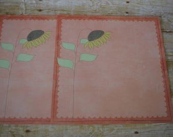 Fall/Sunflower 12x12 Scrapbook Paper