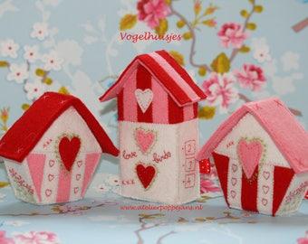 Bird houses by felt-Handicraft package