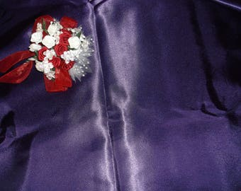Dark Purple Sweetheart Satin