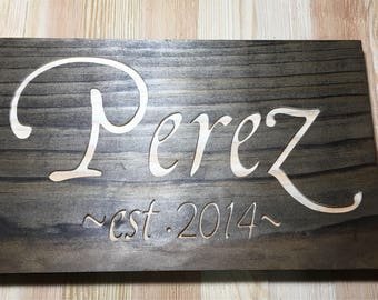 Family name, Wedding date, Personalized, Anniversary Gift, Wedding Gift