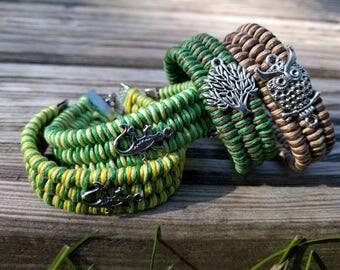Colorful handmade braided bracelets (custom)