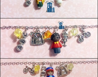 Stainless steel chain Bracelets-Fimo characters