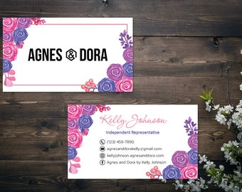 PERSONALIZED Agnes and Dora Business Card, Agnes and Dora Punch Card, Business Cards, Digital File AD03
