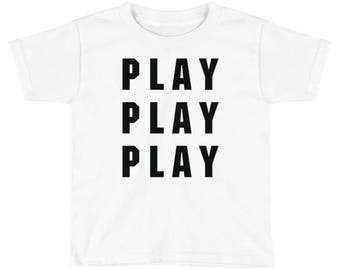 Play Play Play Typography Kids T-Shirt