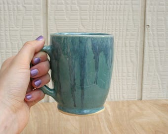 Blue Drippy Ceramic Mug