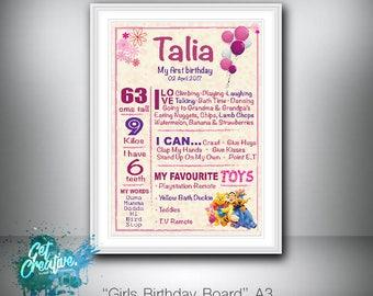 birthday board - digital file supplied