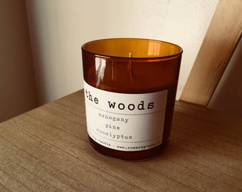 THE WOODS - scented soy candle