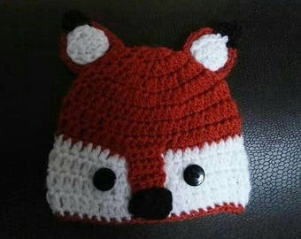 Custom Fox Hat. Crochet. Personal. Baby gift. Child gift. Quirky adult hat. Handmade. Colourful. UK seller