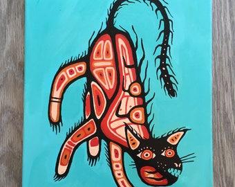 Wildcat, Acrylic Painting, 11x14