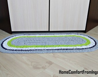 Rug, Rugs, crochet rug, gray rug, decorative rugs, crochet rug, shower gift, oval Rag Rug, home decor, floor bedroom, children room, carpets