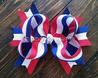 "6"" 4th of July Boutique Bow"