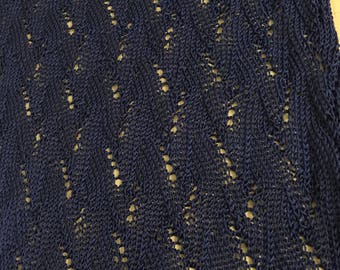 Silk hand knit scarf