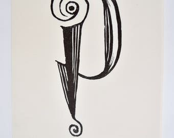 Lino Punctuation hand-cut type