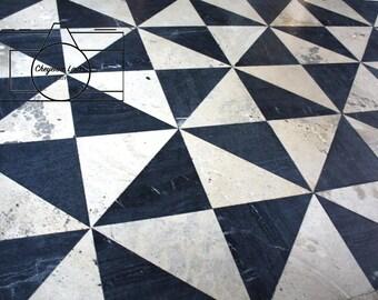 Stock Photo: Blue and White Pinwheel Tile