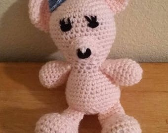 Crochet Pink Teddy Bear