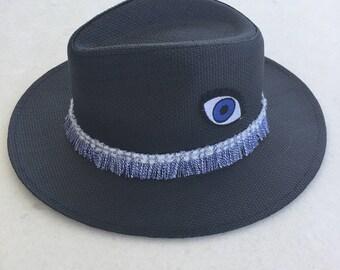 Handmade paper straw hats