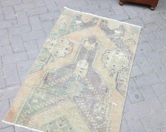 Vintage oushak small rug. Hand made wool rug. Decorative small rug. New fashion rug. Boho rug. Area small rug. 075x118cm.///29.53x46.46inc.