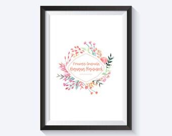 Princess Consuela Banana Hammock and Crap Bag Prints, Friends, Quotes, Funny, Prints, WallArt, Home Decor