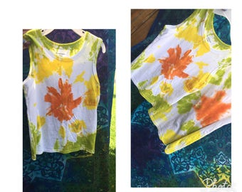 Toddler handmade tie dye tank top