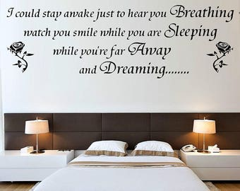 Love Smile Sleep Dream Vinyl Wall Sticker Inspirational Wall Quote Wall Decal