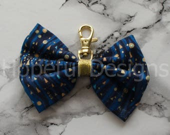 "4"" Starry Night inspired planner bow"
