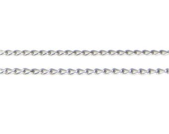 """4mm Antique Silver Link Chain, 40"""" length"""