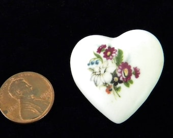 Vintage Hand Made and Hand Painted Ceramic Porcelain Brooch from Sue Bender's Personal Collection (Ceramics Artist, Writer)