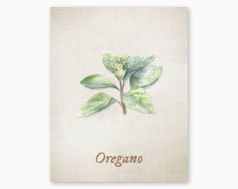 OREGANO KITCHEN HERB Printable, Kitchen Decor, Kitchen Wall Art, Kitchen Herb Print, Farmhouse Kitchen Art, Rustic Kitchen, Instant Download