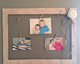 Distressed Rustic Chicken Wire Frame
