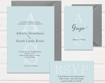 invitation, Wedding participation-full wedding Suite-powder