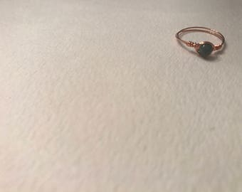 Simple wire bead wrapped ring