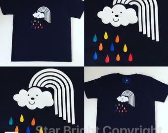 Rainbow cloud children's t shirt
