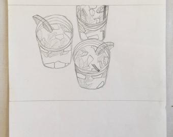 Mojito drawing