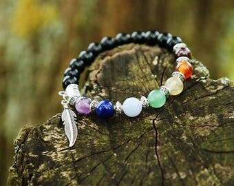 Healing bracelet 7 Chakras, silvered Metal - SIGHILD finish