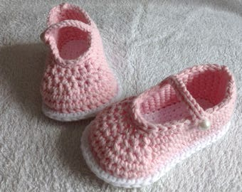 Baby Crochet Mary janes