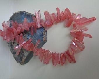 Rose Pink Quartz Bars, Quartz Fancy Bars, Pink Quartz Shards, Rose Quartz Daggers, Pink Dagger, Pink Gemstone, Pink Beads, Red Quartz