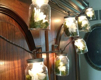 Daisy Mason Jar String Lights perfect for wedding and entertaining