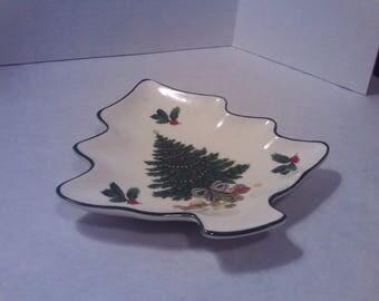 Mikasa Heritage Christmas Story Tree Shaped Dish