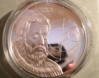 Ptolemy - Sterling Silver History Of Science (Proof)