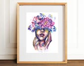 So Beautiful It's Blinding Art Print- Wall Art- Gouache Watercolor Painting